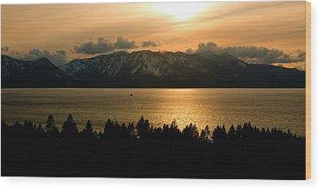 Winter Sunset At Lake Tahoe Wood Print