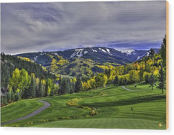 Winter Sweeps Fall Away Wood Print by Darryl Gallegos