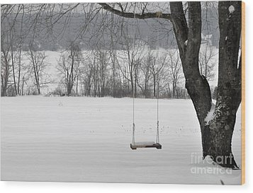Wood Print featuring the photograph Winter Swing by John Black