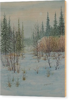 Winter Trail Alberta Wood Print