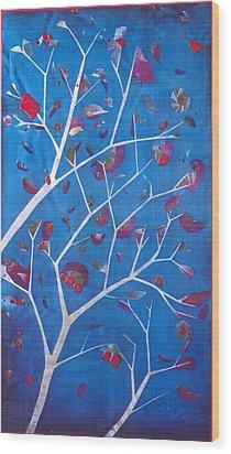 Winter Tree Wood Print by Rick Silas