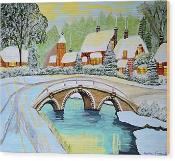 Winter Village Wood Print by Magdalena Frohnsdorff
