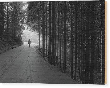 Winter Walk - Austria Wood Print by Mountain Dreams