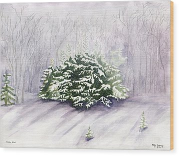 Wood Print featuring the painting Winter Wind by Melly Terpening