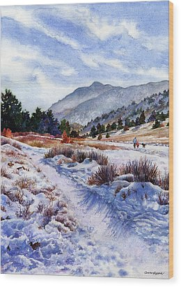 Wood Print featuring the painting Winter Wonderland by Anne Gifford