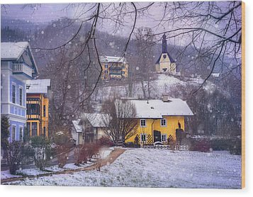 Winter Wonderland In Mondsee Austria  Wood Print