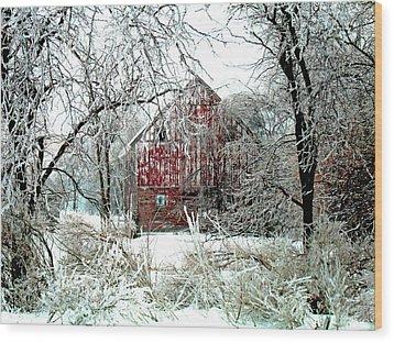 Winter Wonderland Wood Print by Julie Hamilton