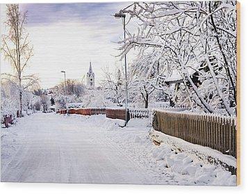Winter Wonderland Wood Print by Marius Sipa