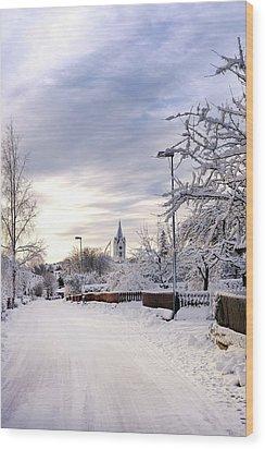 Winter Wonderland Redux Wood Print by Marius Sipa