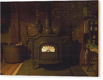 Winter Wood Warmth Wood Print