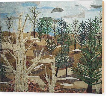 Winter Woods Wood Print by Charlene White
