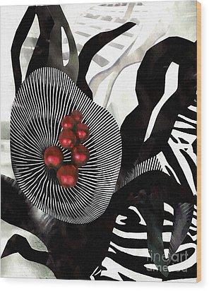 Winterberries Wood Print by Sarah Loft