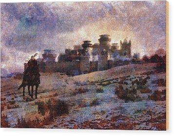 Winterfell Wood Print by Lilia D