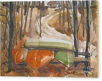 Wood Print featuring the painting Wintering Over by Charlie Spear