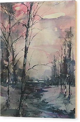 Winter's Blush Wood Print