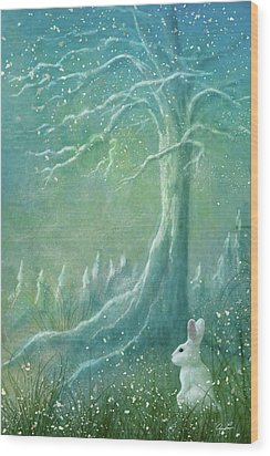 Wood Print featuring the digital art Winters Coming by Ann Lauwers