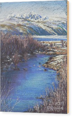 Winter's Edge, Flat Creek Jackson Wood Print by Louise Green
