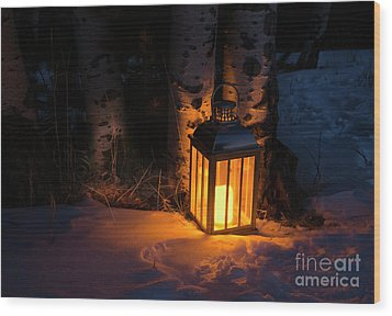 Wood Print featuring the photograph Winter's Eve by The Forests Edge Photography - Diane Sandoval