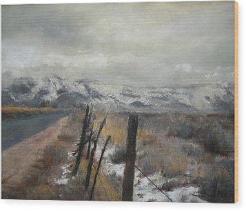 Winter's Glow Wood Print by Anita Stoll