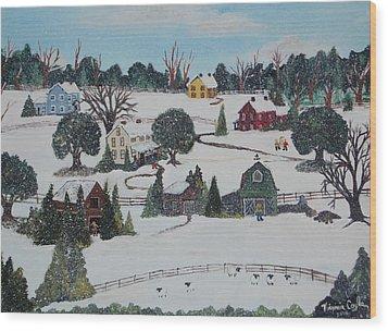 Winters Last Snow Wood Print