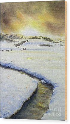 Winter's Light Wood Print