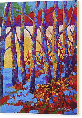 Winter's Promise Wood Print by Marion Rose