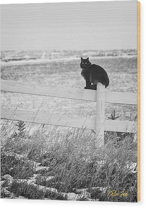 Wood Print featuring the photograph Winter's Stalker by Rikk Flohr