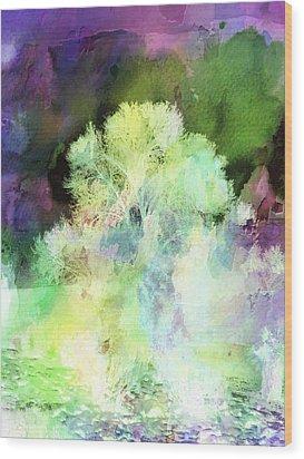 Winters Storm Wood Print