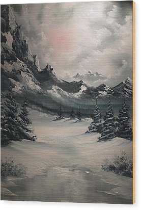 Wintery Mountain Wood Print by John Koehler