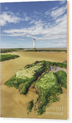Wood Print featuring the photograph Wirral Lighthouse by Ian Mitchell