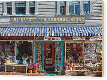 Wiscasset General Wood Print by Susan Cole Kelly