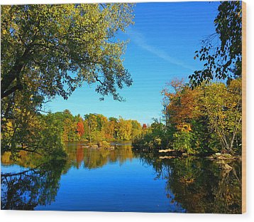 Wisconsin River Colors 2 Wood Print by Brook Burling
