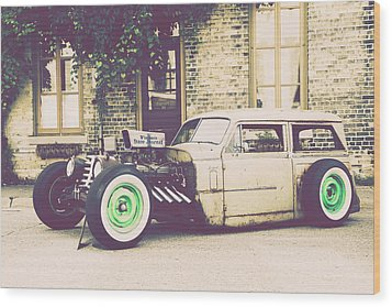 Wood Print featuring the photograph Wisconsin State Journal Ratrod by Joel Witmeyer