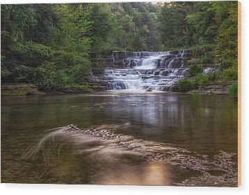 Wood Print featuring the photograph Wiscoy Falls by Mark Papke