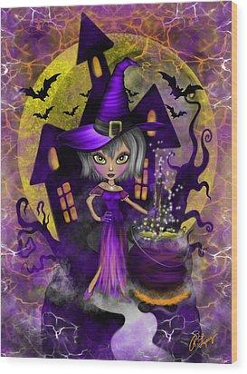 Wisdom Witch Fantasy Art Wood Print