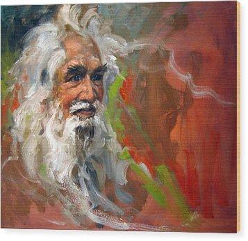 Wise Old Man Wood Print