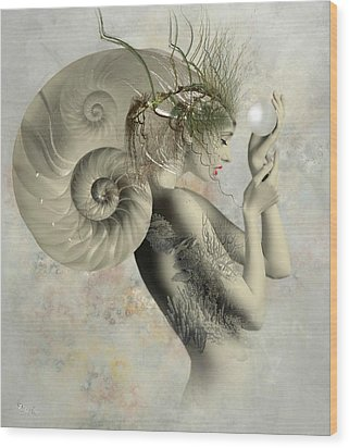 Wish On A Pearl Wood Print by Ali Oppy