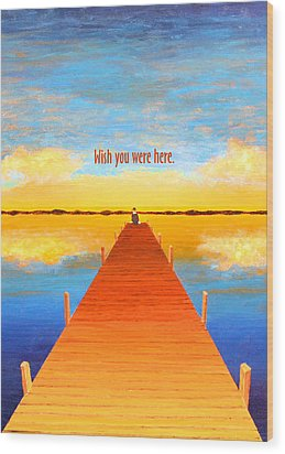 Wish - Pier - Greeting Card Wood Print