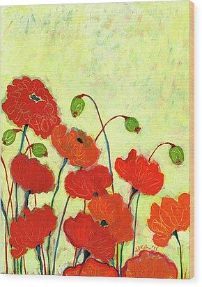 Wishful Blooming Wood Print by Jennifer Lommers