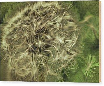 Wishies Wood Print by Trish Tritz