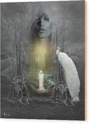 Wishing Candle Wood Print