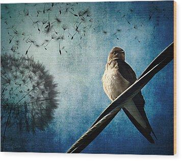 Wishing Swallow Wood Print