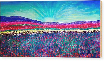 Wishing You The Sunshine Of Tomorrow Wood Print by Kimberlee Baxter