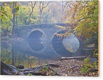 Wissahickon Creek At Bells Mill Rd. Wood Print by Bill Cannon