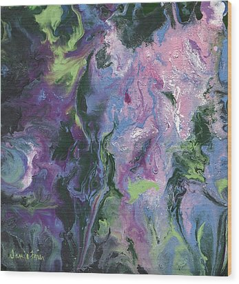 Wood Print featuring the painting Wisteria Abstract by Jamie Frier