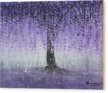 Wisteria Dream Wood Print