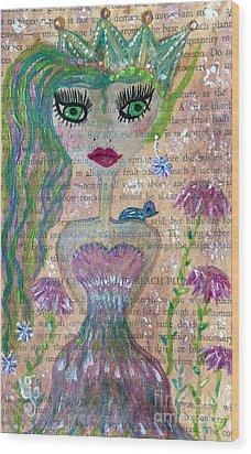 Wisteria Wood Print by Julie Engelhardt