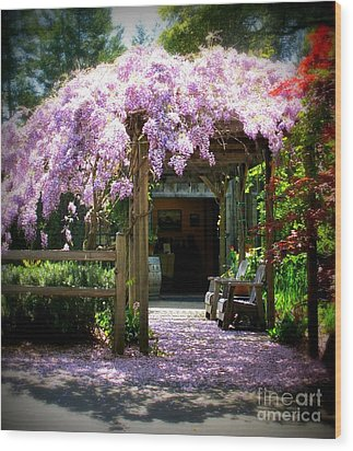 Wood Print featuring the photograph Wisteria by Leslie Hunziker