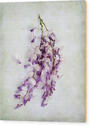 Wood Print featuring the photograph Wisteria Still Life by Louise Kumpf