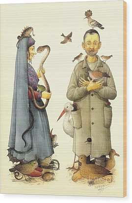 Witch Wood Print by Kestutis Kasparavicius